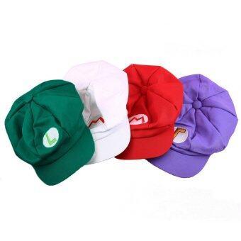 โอ้งามลุยจิซุปเปอร์ Mario โนคอสเพลย์ไซส์ผู้ใหญ่สวมหมวกแก๊ปเบสบอลใหม่สีเขียว L