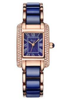 Kimio นาฬิกาข้อมือผู้หญิง สีน้ำเงิน/พิงค์โกล์ด สาย Alloy รุ่น KW6036