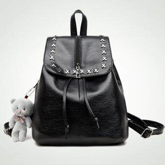 B'nana Beauty กระเป๋าเป้สะพายหลัง กระเป๋าเป้เกาหลี กระเป๋าสะพายหลังผู้หญิง backpack women รุ่น GB-13 (สีดำ)