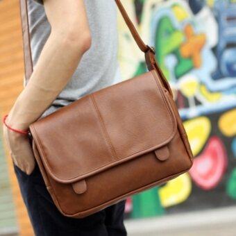 Osaka กระเป๋าสะพายไหล่ หนังเนื้อนิ่ม รุ่น NG503 ( Brown )