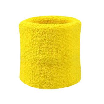 2ชิ้นห้องออกกำลังกายสนามเทนนิสสควอชแร็กเกตแบดมินตันฟุตบอลสายรัดข้อมือแถบข้อมือสีเหลือง