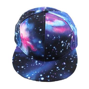 นิวแฟชั่นหมวกเบสบอล Galaxy พื้นที่รูปแบบพิมพ์หมวกแก๊ปหมวกฮิปฮอป Snapback เพศน้ำเงิน