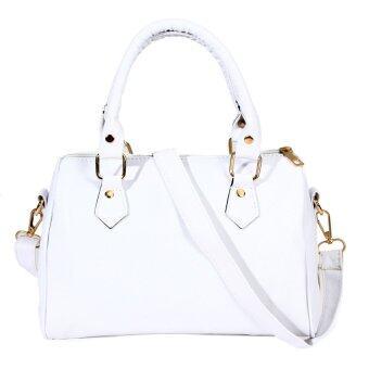 กระเป๋าถือผู้หญิงกระเป๋าสะพายหนัง pu ตายส่งเงิน (ขาว)-ระหว่างประเทศ