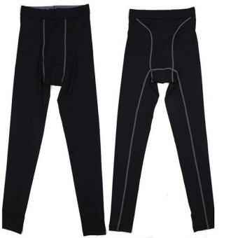 Harga New Women's Men's Black Long Sports Pants Yoga Sport Perspiration Wicking Pants C218 - intl