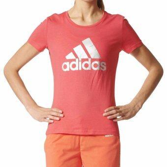 Adidas เสื้อยืด คอกลม Women T-Shirt Foil Logo BP8400 COR (850)