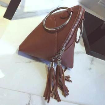 กระเป๋าถือแฟชั่น รุ่น a091 สีน้ำตาล
