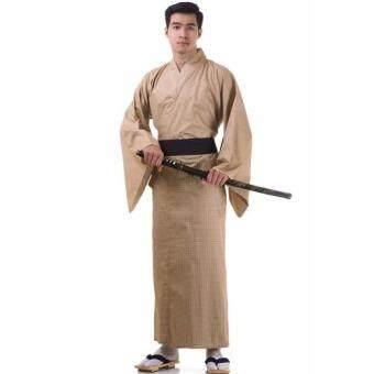 Princess of asia ชุดยูกาตะผู้ชายญี่ปุ่น ( สีน้ำตาล )