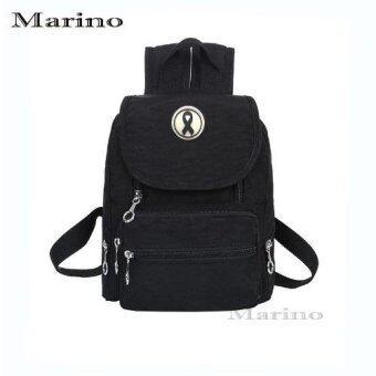 Marino กระเป๋าเป้สะพายหลังผ้าไนล่อนกันน้ำอย่างดี รุ่น 1150 สีดำ
