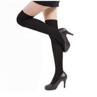 Venisof Black ถุงน่องรักษาเส้นเลือดขอด สีดำ แบบต้นขา แรงรัด แรงรัด 20-30 mmHg