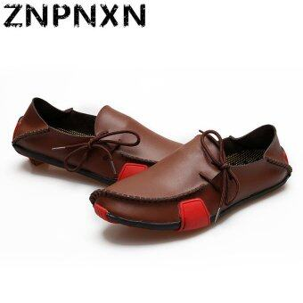 Harga ZNPNXN Synthetic Leather Casual Loafers (Brown)