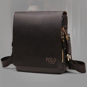 ชายไหล่ห่อกระเป๋าถือกระเป๋าเอกสารกระเป๋าทุกคนนำกระเป๋าเป้กระเป๋าหนังขนาดเล็กธุรกิจสบาย ๆ ตาย (แนวตั้ง/สีดำ/กลางขนาด)