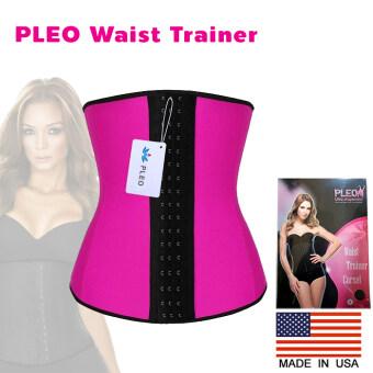 PLEO ปลอกรัดเอว Waist Trainer Corset เอวคอด เอวเพรียว ปรับรูปร่างสรีระ จาก USA - สีชมพู