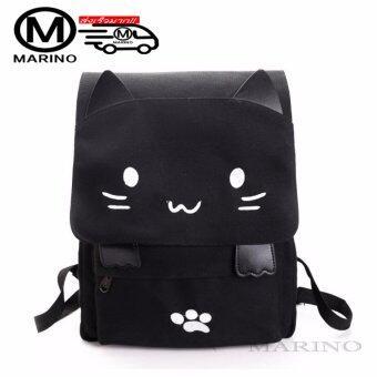 Marino กระเป๋า กระเป๋าสะพาย กระเป๋าเป้สะพายหลัง กรเป๋าเป้รูปแมว No.0222 - Black