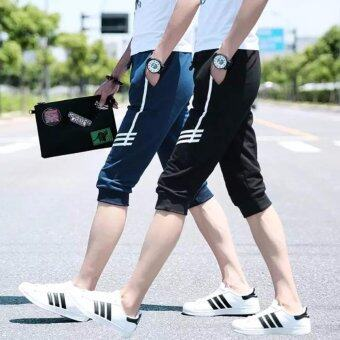 Save กางเกงขา3ส่วน ดีไซน์สวย โดดเด่น (สีนํ้าเงิน) รุ่น 587