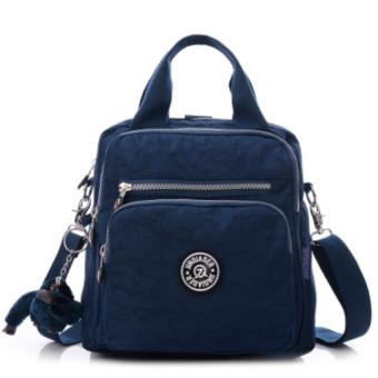Good กระเป๋า กระเป๋าสะพายข้าง กระเป๋าเป้ผ้าไนลอนA1(BLUE)