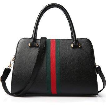 รีวิวสินค้า RockLife กระเป๋า กระเป๋าถือ กระเป๋าสะพายสำหรับผู้หญิง Top-Handle bag New Fashion - Black ขายถูก