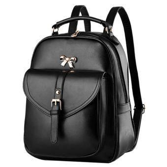 Little Bag กระเป๋าเป้สะพายหลัง กระเป๋าเป้เกาหลี กระเป๋าสะพายหลังผู้หญิง backpack women รุ่น LP-064 (สีดำ)