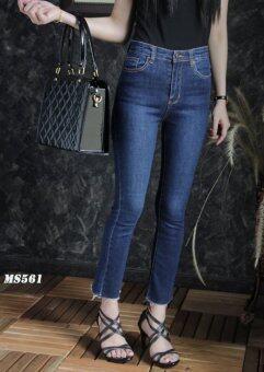 Platinum Fashion กางเกงยีนส์ขายาวเอวสูง ทรงสกินนี่ รุ่นMS561