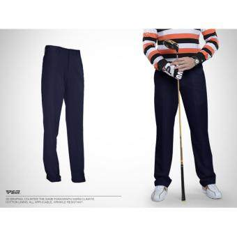 EXCEED กางเกงกอล์ฟสำหรับสุภาพบุรุษ PGM สีดำ (KUZ005) Genuine Top Design Golf Pants Ultra Thin Men Summer Slim Fashion Trousers (Black)