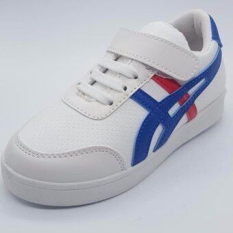 Alice Shoe รองเท้าผ้าใบ แฟชั่นเด็กผู้ชาย และ ผู้หญิง รุ่น SKL150-W(สีขาว)