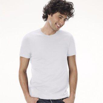 Sanremo แซนรีโม เสื้อแขนสั้นคอกลม Combed Cotton รุ่น NIS-SCA1-WH สีขาว