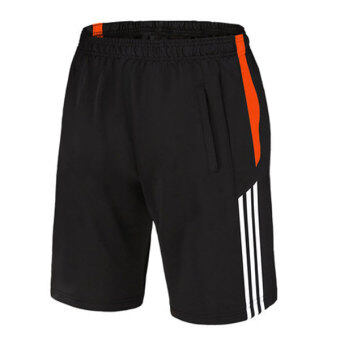 Harga Good Quality Breathable Soft Dry Fast Sports Basketball Men Shorts(Stripe Orange) - Intl
