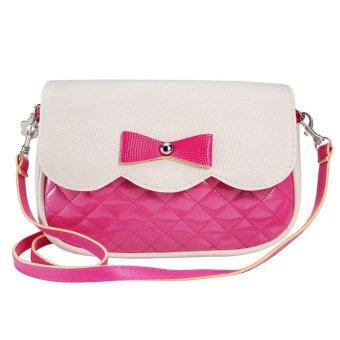 Coconie กุทัณฑ์แฟชั่นกระเป๋าสะพายร้อนสีชมพูจัดส่งฟรี