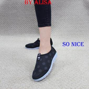 Alisa Shoes รองเท้าผ้าใบแฟชั่น รุ่น 99Q026 Black