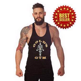 Elit Gold Gym เสื้อกล้าม เข้ารูป Golds Gym (สีดำ)