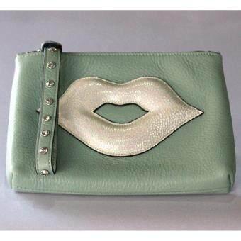 PINK PENNY'S Lip Diamond สีเขียวมินท์-ปากขาวมุก