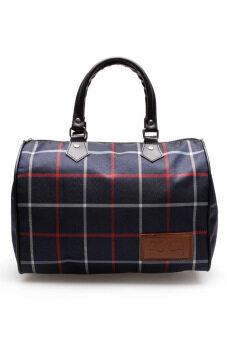 DM กระเป๋าถือลายสก๊อต KCAJ ( สีน้ำเงิน )