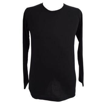 Chahom เสื้อยืดคอกลม แขนยาว สีดำ
