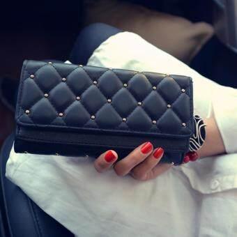 B'nana Beauty กระเป๋าสตางค์ใบยาว กระเป๋าเงินผู้หญิง กระเป๋าตังตามวันเกิด กระเป๋าสตางค์น่ารัก กระเป๋าตังสวยๆ รุ่น GC-02 (สีดำ)
