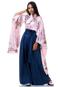 Princess of asia ชุดอนนะบากามะ ชุดฮากามะผู้หญิง (สีชมพู)