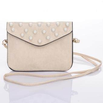 Premium Bag กระเป๋าแฟชั่น กระเป๋าสะพายข้าง รุ่น PB-009 (สีครีม)
