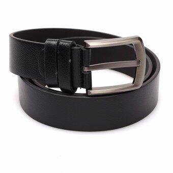 Marino Belt เข็มขัดแฟชั่น เข็มขัดหนัง PU รุ่น MC118 - Black