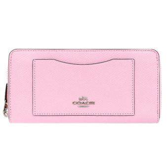 Harga COACH F58411 ACCORDION ZIP WALLET IN CROSSGRAIN LEATHER (Pink)