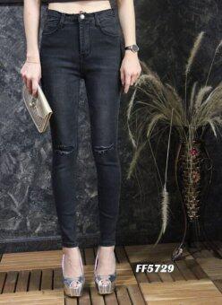 Platinum Fashion กางเกงยีนส์ขายาวเอวสูง ทรงสกินนี่ รุ่นFF5729
