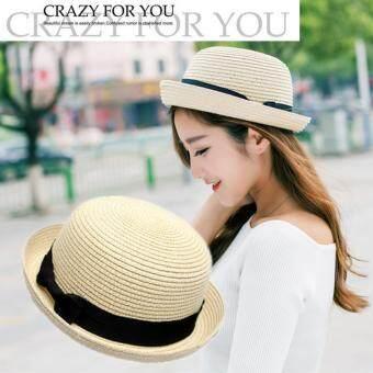 KPshop หมวกแฟชั่น หมวกมีปีก หมวกเที่ยวทะเล รุ่น LH-020 (สีครีม)