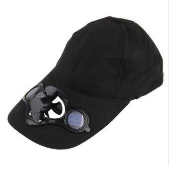หมวกติดแอร์ หมวกโซล่าเซลล์ พลังงานแสงอาทิตย์ (สีดำ)