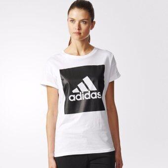 Adidas เสื้อยืด คอกลม Women T-Shirt ESS Logo Lo TEE S97229 WH (790)