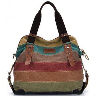 better it กระเป๋าแฟชั่น กระเป๋า Big Canvas bag Rainbow Fashion Women Bag