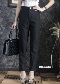 Platinum Fashion กางเกงยีนส์ขายาวเอวสูง ทรงบอย ไม่โชว์เนื้อ รุ่นOR8536