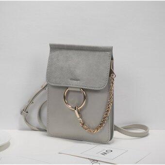 AXIXI กระเป๋าสะพายแฟชั่น รุ่น Minimal Coterie สีเทา