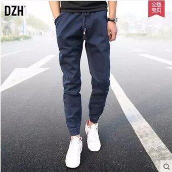 Save กางเกงขายาว ขาจ่ำมีซิบ เอวยางยืด (สีน้ำเงิน) รุ่น 117