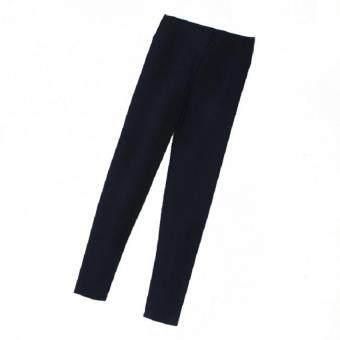 SCS กางเกงขายาว เอวสูง (สีดำ) รุ่น B034