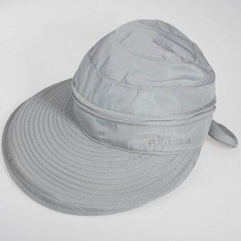 สาวร้อนเสื้อกอล์ฟแอนตี้ยูวีปีกกว้างหมวกหน้ากากหมวกหูกระต่ายชายหาดอาบแดดแสงสีเทา-ระหว่างประเทศ