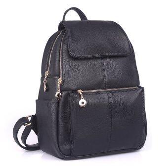 Maylin กระเป๋าเป้สะพายหลัง กระเป๋าเป้เกาหลี กระเป๋าเป้หนัง ผู้หญิง รุ่น MP-065 (สีดำ)