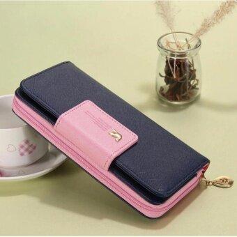 Encounter มาใหม่กระเป๋าสตางค์แบรนด์คุณภาพสูงกระเป๋าสตรีผู้หญิง (สีน้ำเงิน)