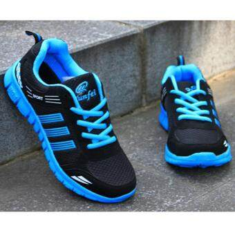 LALANG Men Outdoor Sport Jogging Running Shoes Sneakers Casual Mesh Breathable Trainers Low Cut Flat Shoes